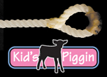 White Kid's Piggin String